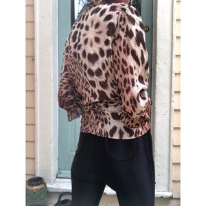 Betsey Johnson Tops - Vintage betsey Johnson leopard wrap top
